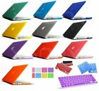 Hard Rubberized Case + Keyboard Cover For NEW 13 MacBook Pro Air 13 11 15 Retina
