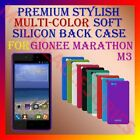 ACM-PREMIUM RICH MULTI-COLOR SOFT SILICON BACK CASE for GIONEE MARATHON M3 COVER