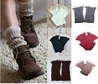 Women's/Girl Nice Crochet Lace Knitted Boot Cuffs Toppers Leg Warmers Boot Sock