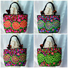 Thai Hmong tribal Ethnic Thailand Vintage Rose Embroidered Tote Bag Handbag