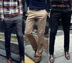 CHEAPEST Business Men Sunny Boys Slim Solid Color Straight Pants Skinny Trousers
