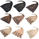 """20"""" 22"""" 8pcs/set Straight 100% Real Remy Human Hair Clip-in Hair Extensions 100g"""