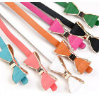 Sweet Lady's Faux Leather Skinny Bow Tie Waist Band Belt 8 Colors Summer New