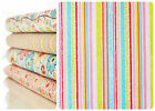Riley Blake 100% Cotton Quilting Fabric Happy Flapper Stripes Pink Fat Quarter