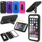 Hard Case Soft Rubber Hybrid Armor Impact Cover Skin Kickstand For iPhone 6 4.7""