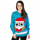 Ladies & Men Xmas Jumper With Robin Festive Christmas Crimbo Wooly Top