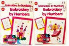 EMBROIDERY BY NUMBERS CROSS STITCH SEWING ART SET CHILDREN KIDS CRAFT NEW GIFT
