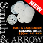 "6"" HOOK & LOOP DISKS VELCRO SANDING WHEELS PAD ORBITAL SANDER DRYWALL 6 7 HOLE"