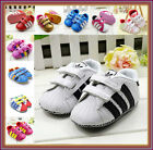 New Baby Girls Soft Sole Shoes Infant Prewalkers 0-6M, 6-12M, 12-18M, 18-24M