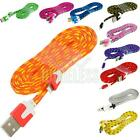 Noodle Rope Braided Sync Usb Data Charger Cable Cord 6ft For Iphone 5s 5 5c 6