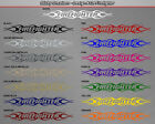 #124 FIREFIGHTER Flame Flaming Windshield Decal Rear Window Sticker Graphic Car
