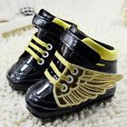 Baby girl boy Crib Shoes soft soled Angel wings Sports shoes Size 0-6-12-18 mth