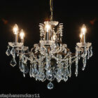 GORGEOUS SHALLOW SIX ARM BRONZE COLOURED FRENCH STYLE CHANDELIER - NEW