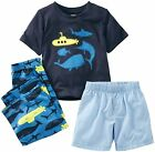 Carter's Infant Boys 3-Piece Navy Submarine Jersey Pajama Set NWT $26 24M