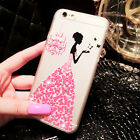 Fashion Crystal Pretty Girl Cute Style Matte Hard Case Cover Fr iPhone 6 /6 Plus