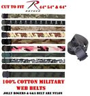 BOY'S & GIRL'S Military Web Belts Cotton Camo ARMY, NAVY, MARINE, AIR FORCE