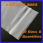 Grip Seal Clear Self Seal Press Polythene Zip Lock Plastic Bags ** All Sizes **