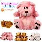 Ladies Womens Teddy Bear Novelty Faux Fur Winter Warm Cosy Furry Slippers Shoes