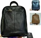 Men Women's Genuine Leather handbag Backpack Back Pack Bag Black Blue Brown 0069