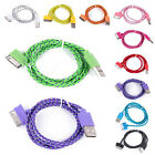 Braided Cord Cable For iPhone 4 4S iPad2 3 3ft/6ft/10ft USB Data&Sync Charger