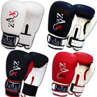 Rex Leather GEL Boxing Gloves Gel Padded Sparring Punch Bag Mitts Gloves
