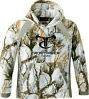 Mens True Timber Fleece Hoodie Snow Camo MC2 Sweat Shirt Hunting Size LARGE NEW