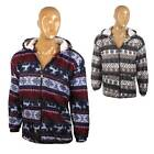 Mens Reindeer Hoodie Hooded Christmas Xmas Hoody Festive Novelty Fleece Sweater