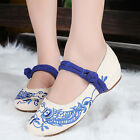Women Embroidered Shoes Chinese Big Fish Cloth Shoes Sandals Wedge Heel