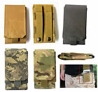 Universal Army Camo Bag For Cellphone Hook Loop Belt Pouch Holster Case BIG SIZE