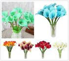 1/12 HEAD LATEX REAL TOUCH FLOWERS BOUQUETS CALLA LILY WEDDING BRIDAL HOME DECOR