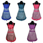 STON Womens Plaid Home Kitchen Cooking Bib Apron Dress with One Pockets Hot Sale