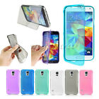 Soft Rubber Silicon TPU Gel Clear Flip Case Cover For Samsung Galaxy S5 i9600