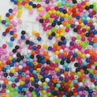 Plastic OPAQUE round bead P512 3mm U PICK