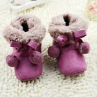 Baby boots girl snow winter Soft bottom Shoes Fuchsia size 3-6 6-9 9-12 month