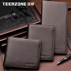 teemzone Men's Genuine Leather Bifold Wallet Card Cash Driver's License Holder