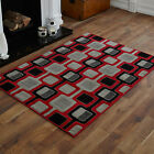 MODERN  SMALL MEDIUM LARGE RED BLACK CHAIN PATTERN CHEAP AND BEST QUALITY RUGS