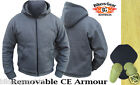 MOTORCYCLE HOODIE FULLY REINFORCED WITH DuPont™ KEVLAR® ARAMID FIBRE GREY SMALL