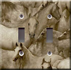 Light Switch Plate Cover - Horse family ranch - Animal cavalry pony foal bronco