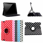 NEW 360 DEGREE ROTATING FOR AMAZON KINDLE FIRE 8.9 INCHES POLKA DOT STAND CASE