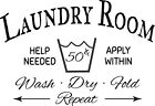 Laundry Room, Home, Vinyl Decal, Sticker, Wall