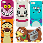 Cute 3D Cartoon Silicone Rubber Back Case Cover For Apple iPhone 4/4s  5/5s