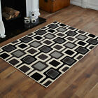 MEDIUM SMALL LARGE EXTRA LARGE GREY BLACK CREAM CHAIN PATTERN BEST QUALITY RUGS