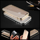 """Aluminum Ultra-thin Metal Case Clear Back Cover Skin fr iPhone 6 4.7"""" / 6 Plus"""