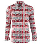MOSCHINO Hemd Weiß Rot Shirt White Red Chemise Blanc Rouge 03070