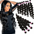 "6A Deep Wave 100% Virgin MALAYSIAN Hair Weave 10""- 30"" 3 Bundles Natural Black"