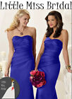 Royal Blue Bridesmaid Dress Dresses Evening Ball Party Wedding (FABRIC SAMPLE)