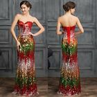2015 Sequins~ SLIM Ball Gown Party Evening Bridesmaid Prom Dress LONG Maxi Dress