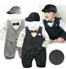 Infant Boy Wedding Suit & Hat 6-12 / 12-18M, Party Christening Dress Outfit NEW
