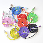 Strong Braided 8 Pin Sync Data Cable Usb Charger For Iphone 6 5s 5c Ipod Nano 7