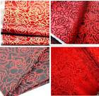 Red gold rose girls' dress wedding decoration doll cloth fabric silk pillow diy